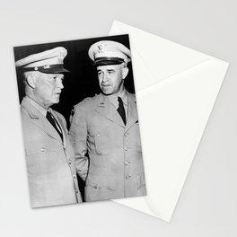 General Eisenhower and General Bradley - 1948 Stationery Cards