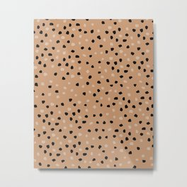 Leopard Print_Warm Neutral tones _ Abstract Oil Painting Metal Print