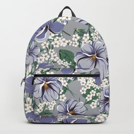 seamless pattern with viola flowers Backpack
