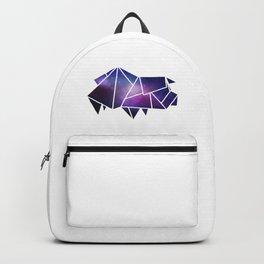 Geometric Pig   Low Poly Galaxy Farm Animal Backpack