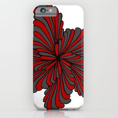 Flower in Red and Gray Slim Case iPhone 6s