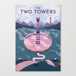 Towers Print Canvas Print