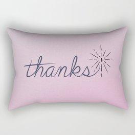 thanks* [pink] Rectangular Pillow
