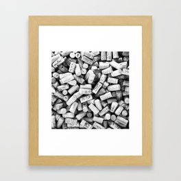 Something Nostalgic II Twist-off Wine Corks in Black And White #decor #society6 #buyart Framed Art Print