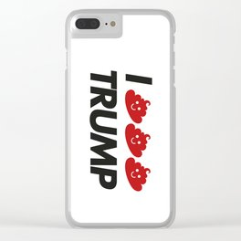 I CACA TRUMP Clear iPhone Case