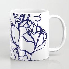 Floral Peon Navy Coffee Mug