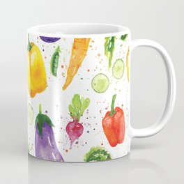 Very Veggie Pattern Coffee Mug