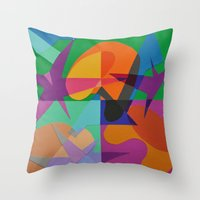transparent Throw Pillows featuring Transparent by Mallory Pearson