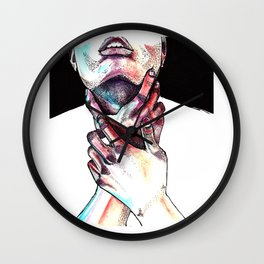 Lost in colors Wall Clock