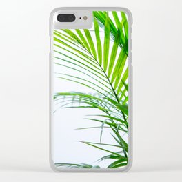 Palm leaves paradise Clear iPhone Case