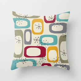 Mid Century Modern Shapes 01 #society6 #buyart  Throw Pillow