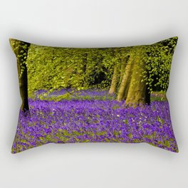 A Walk in Bluebell Wood Rectangular Pillow