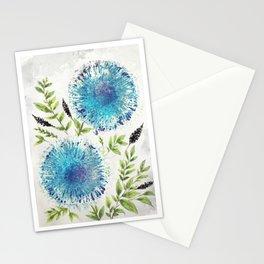 Dandelions Blue Stationery Cards