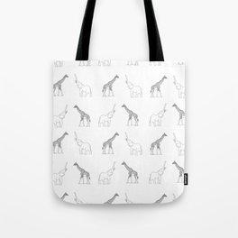Elephant And Giraffe Tote Bag