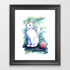 Playing Kitty Framed Art Print