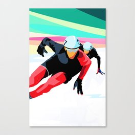 Olympic Speed Skating Poster Canvas Print