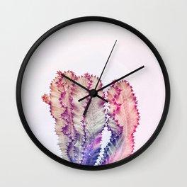Rainbow Cacti Wall Clock