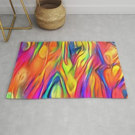 Colored paint background Rug