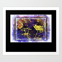 Flowery Explorations Art Print