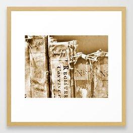 Faded Books Framed Art Print