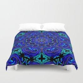 Bright Blue Kaleidoscope Duvet Cover