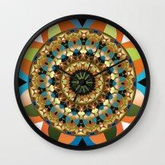 Navajo Mandala Wall Clock