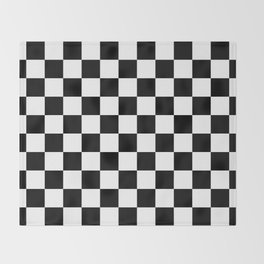chess board, chessboard  black and white pattern Throw Blanket