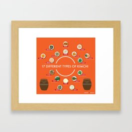 17 Different Types of Kimchi Framed Art Print