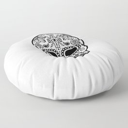 Mexican Skull - White Edition Floor Pillow