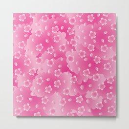 Sakura Pattern_A Metal Print