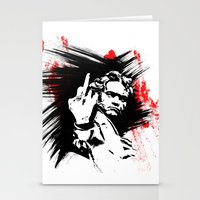 beethoven Stationery Cards featuring Beethoven FU by viva la revolucion