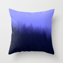 Periwinkle Fog 0367 - Seward, Alaska Throw Pillow