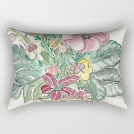 Vase with Fronds Rectangular Pillow
