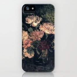 Vincent van Gogh Vase With Carnations 1886 iPhone Case