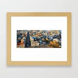 Reykjavík Tilt-Shift Framed Art Print