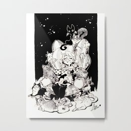 Catlady Dreams Metal Print