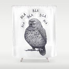 Owl bla bla bla Shower Curtain