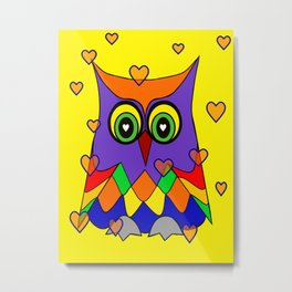 I Love Owls Metal Print