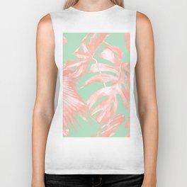 Island Love Seashell Pink + Mint Green Biker Tank