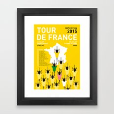 MY TOUR DE FRANCE MINIMAL POSTER ETAPES 2015 Framed Art Print