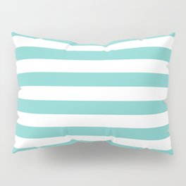 Horizontal Aqua Stripes Pillow Sham