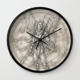 Michael: The Right Hand of God Wall Clock