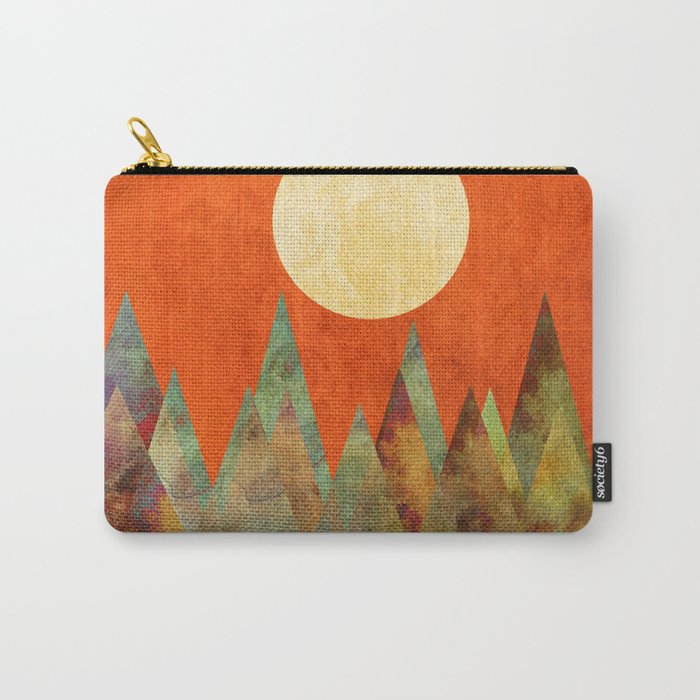 Many Moons Ago, Abstract Landscape Art Carry-All Pouch