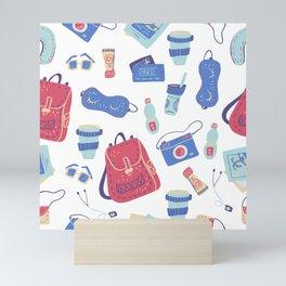 Go travel pattern 2 Mini Art Print