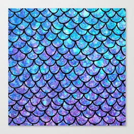 Purples & Blues Mermaid scales Canvas Print