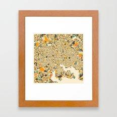 BALTIMORE MAP Framed Art Print