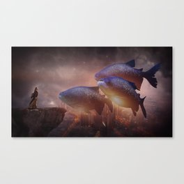 The Queen of Fish by GEN Z Canvas Print