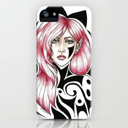 Pink & Black iPhone Case