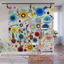 Rupydetequila whimsical floral art 2018 Wall Mural