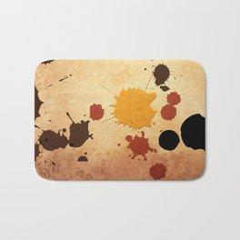 Abstract Indian Yellow Splash Bath Mat